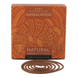 PURE AUSTRALIAN SANDALWOOD NATURAL MOSQUITO COILS 10 PACK