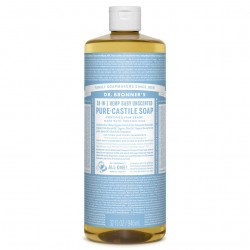 DR BRONNERS BABY UNSCENTED PURE-CASTILE SOAP 946ML