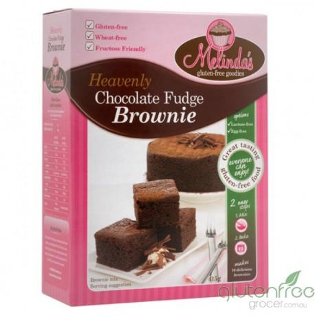 MELINDAS GLUTEN FREE GOODIES CHOCOLATE FUDGE BROWNIE MIX 415G