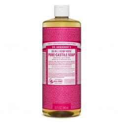 DR BRONNERS ROSE PURE-CASTILE SOAP 946ML