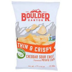 BOULDER CANYON THING AND CRISPY CHEDDAR SOUR CREAM CHIPS 170G