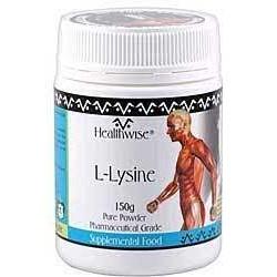 HEALTHWISE L-LYSINE PURE POWDER 150G