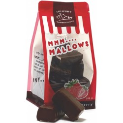 THE SYDNEY MARSHMALLOW CO STRAWBERRY CHOC COATED MALLOWS 200G