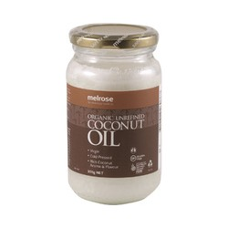 MELROSE ORGANIC UNREFINED VIRGIN COCONUT OIL 300G