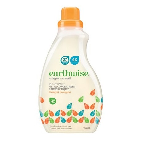 EARTHWISE ORANGE & EUCALYPTUS LAUNDRY LIQUID 750ML