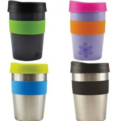 CHEEKI COFFEE CUP SILVER 355ML