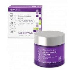 ANDALOU RESVERATROL Q10 NIGHT REPAIR CREAM AGE DEFYING 50G