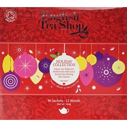 ENGLISH TEA SHOP ORGANIC HOLIDAY COLLECTION RED 12 BLENDS 96 PK 144G