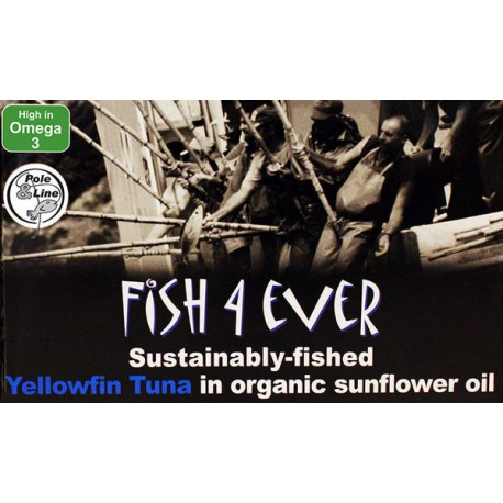 FISH 4 EVER SARDINES IN ORGANIC SUNFLOWER OIL 90G