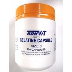 BONVIT GELATINE SIZE 0 300 CAPSULES