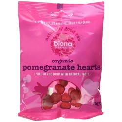 BIONA ORGANIC NATURALLY GOOD FUN ORGANIC POMEGRANATE HEARTS 75G