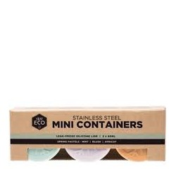 EVER ECO STAINLESS STEEL MINI CONTAINERS 3 X 60ML