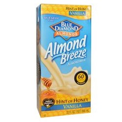 BLUE DIAMOND ALMOND BREEZE HINT OF HONEY 1L