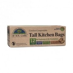 IF YOU CARE TALL KITCHEN BAGS 12PK