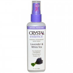 CRYSTAL ESSENCE LAVENDER & WHITE TEA MINERAL DEODORANT SPRAY 118G