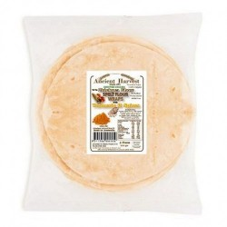 ANCIENT HARVEST CERTIFIED ORGANIC CHICKPEA SPELT FLOUR WRAPS WITH TURMERIC & SPICES 5 PACK 220G