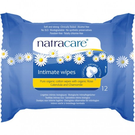 NATRACARE INTIMATE WIPES 12PK