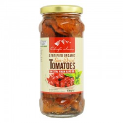 CHEF'S CHOIC E CERTIIED ORGANIC SUN-DRIED TOMATOES IN EXTRA VIRGIN OLIVE OIL230G