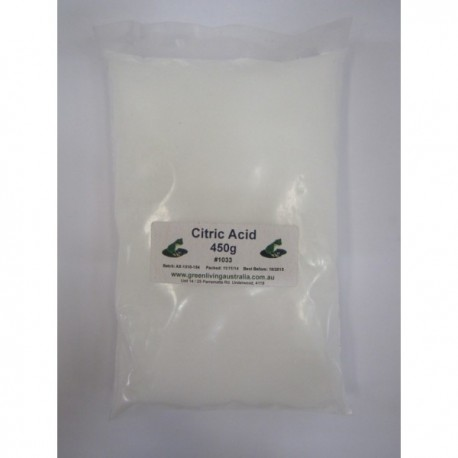 GREEN LIVING AUSTRALIA CITRIC ACID 450G