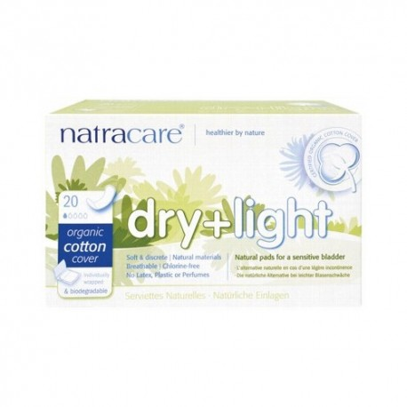 NATRACARE DRY & LIGHT INCONTINENCE PADS 20 PK