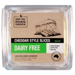 DAIRY-FREE DOWN UNDER CHEDDAR STYLE SLICES 200G