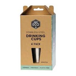 EVER ECO STAINLESS STEEL DRINKING CUPS 500ML 4PK