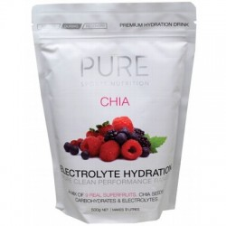 PURE SPORTS HYDRATION ELECTROLYTE HYRDATION CHIA & 9 SUPERFRUITS 500G