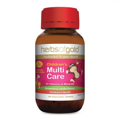 HERBS OF GOLD CHILDRENS MULTICARE 60 CHEWABLE TABLETS