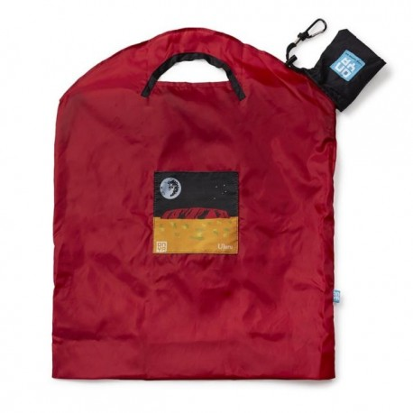 ONYA RESUABLE SHOPPING BAG LARGE RED