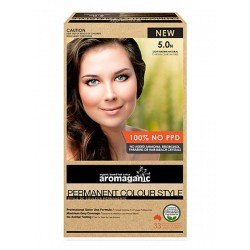 AROMAGANIC PERMANENT HAIR COLOUR 5.0N LIGHT BROWN NATURAL