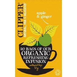 CLIPPER ORGANIC APPLE & GINGER REFRESHING INFUSION 20 BAGS