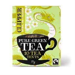 CLIPPER ORGANIC PURE GREEN TEA 10 TEA TENTS