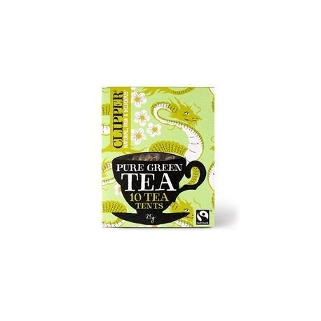 CLIPPER ORGANIC PURE GREEN TEA 10 TEA TENTS