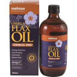 MELROSE OMEGA CHEMICAL FREE FLAX OIL 500ML