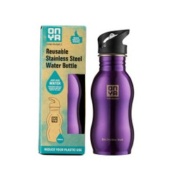 ONYA STAINLESS STEEL WATER BOTTLE PURPLE 500ML
