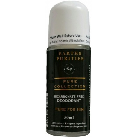 EARTHS PURITIES PURE COLLECTION DEODORANT FOR HIM 50ML ROLL ON