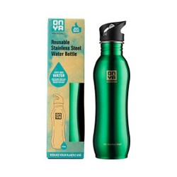 ONYA REUSABLE STAINLESS STEEL WATER BOTTLE GREEN 750ML