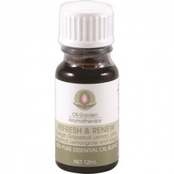 OIL GARDEN AROMATHERAPY REFRESH & RENEW OIL BLEND 12ML