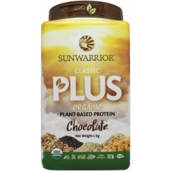 SUNWARRIOR CLASSIC PLUS PLANT BASED PROTEIN CHOCOLATE 1KG
